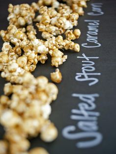 Salted Stout Caramel Popcorn. I think I have to make this for Father's Day