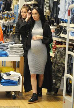 Never Fully Dressed coat Pretty Little Thing dress and Nike trainers. Cute Maternity Outfits, Stylish Maternity, Pregnancy Outfits, Maternity Pictures, Maternity Wear, Maternity Fashion, Cute Outfits, Maternity Styles, Maternity Clothing