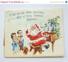 20% OFF Vintage 1950s Pop Up Christmas Card by TheVintageRead