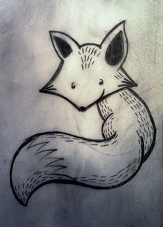 Another fox drawing from today.