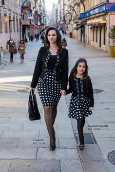It's fun playing mother and daughter with daddy, I get to wear pretty clothes and stockings just like he does. Mommy Daughter Dresses, Mother Daughter Matching Outfits, Mother Daughter Fashion, Mommy And Me Outfits, Mom Daughter, Family Outfits, Little Girl Dresses, Kids Outfits, Girls Dresses