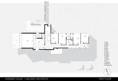 Image 30 of 35 from gallery of Invermay House / Moloney Architects. Through The Roof, Alvar Aalto, International Style, Architecture Plan, House Floor Plans, Modern Minimalist, New Homes, Flooring, How To Plan
