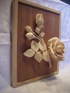 carved wood | Fine wood-carving flower rose. - by Artik @ LumberJocks.com ...
