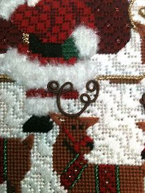 I spent Sunday afternoon and lunch break on Monday finishing this. Off to the finishers. Needlepoint Designs, Needlepoint Stitches, Needlework, Needlepoint Christmas Stockings, Stitching, Projects To Try, Cross Stitch, About Me Blog, Xmas