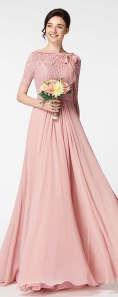 Blush bridesmaid dresses with sleeves modest bridesmaid dresses with elbow sleeves Lace bridesmaid gowns