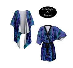 Cool jewel tones add a look of luxury to this kimono robe. Sapphire blue, emerald green and purple are washed over an abstract macro image of a flower. Wear it for stylish weekend lounging or layer it for a boho styled outfit.   #Blue #Kimono, #Robe, #festivalfashion #Coverup, #Fashion #Etsy #etsyseller  #etsyshop #etsyfind  by WhimZingers on Etsy