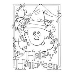 Lots of fun Coloring Pages for Halloween. Use your Prismacolor or Copics to make these pages more spooky. Halloween Coloring Pages, Cool Coloring Pages, Printable Coloring Pages, Adult Coloring Pages, Coloring Books, Halloween Jack, Happy Halloween, Copics, Prismacolor