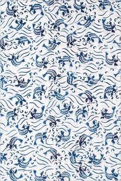 japanese blue koi pattern
