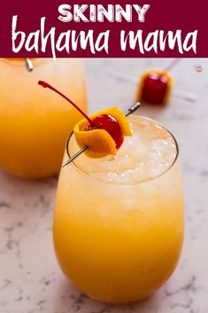 Best Bahama Mama Cocktail {Skinny Version} - Take Two Tapas Malibu Rum Drinks, Pineapple Rum Drinks, Rum Cocktails, Coconut Rum Drinks, Rum Cocktail Recipes, Rum Punch Recipes, Alcohol Drink Recipes, Pineapple Coconut, Spiced Rum Drinks