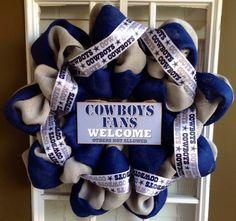 Dallas Cowboys Burlap Wreath  NFL Wreath by JnSMDesigns on Etsy, $65.00