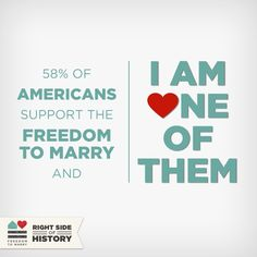 Share this graphic to show the Supreme Court that it's time to stand on the right side of history by overturning DOMA and Prop 8 #MarriageEquality #UnitedForMarriage #LGBT #Love
