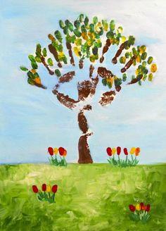 Tree - Handprint painting