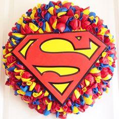 Superhero Balloon Wreath by QueenCityCrafty on Etsy
