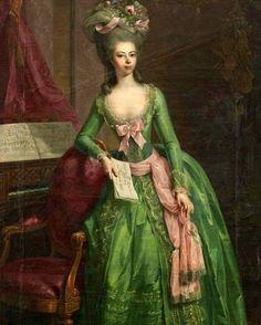 """~ """"Landgräfin Juliane Wilhelmine Luise von Hessen-Philippsthal (* 8. Juni 1761 in Zütphen; † 9, November, 1799.  ~Johann Heinrich Tischbein.  1781…"""""""