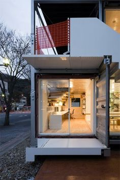 Shipping Container Homes: Daiken-Met Architects - Gifu City, Japan - Shipping Container Office  http://homeinabox.blogspot.com.au/2012/06/daiken-met-architects-gifu-city-japan.html