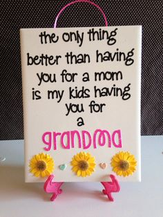 Grandma Gift The Only Thing Better.. Ceramic Tile by crazydaisy12, $12.00