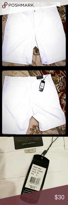 Mens Greg Norman shorts nwt's Mens white Greg Norman shorts size 36. Nwt's Greg Norman Shorts Flat Front