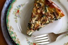 crustless quiche with spinach and mushrooms