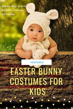 Get An Easter Bunny Costume For Kids Portraits, Parties & More; Get ready to take lots of pictures when your kids get into their Easter bunny costumes for kids. Girls Bunny Costume, Cute Baby Costumes, Easter Bunny Costume, Boy Costumes, Costume Ideas, Easter Gifts For Kids, Cool Gifts For Kids, Kids Gifts, Easter Ideas