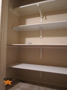 How To Install Shelves In A Closet. She Made It Look Easy Enough That Even  I Could Do It! (impressive)