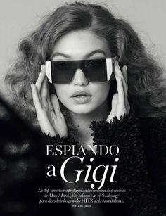 8eaf09cef6 Femmes À Lunettes De Soleil, Gigi Hadid, Bella Hadid, Magazine Elle,  Monocles