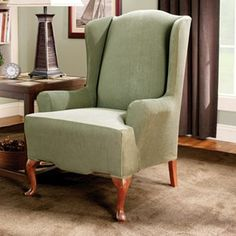 Sure Fit Striped Wingback Chair Slipcover