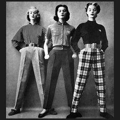 Vintage High Waist Golf Trousers