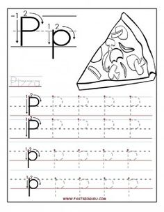 Free Printable letter P tracing worksheets for preschool. Free learning upper and lowercase letters worksheets for kids. letter P for Pizza Letter Tracing Worksheets, Tracing Letters, Preschool Letters, Free Printable Worksheets, Printable Letters, Preschool Printables, Kindergarten Worksheets, In Kindergarten, Abc Tracing
