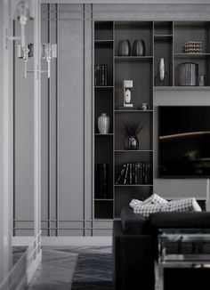 Unbelievable living room storage unit cabinets for your cozy home - Home Design Inspiration Small Living Room Storage, Living Room And Kitchen Design, Living Room Cabinets, Living Room Grey, Living Room Modern, Living Room Interior, Living Room Decor, Room Kitchen, Tiny Living