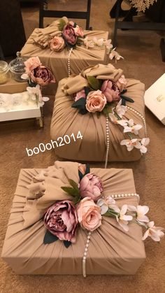 Bridal Gift Wrapping Ideas, Creative Gift Wrapping, Wedding Gift Boxes, Diy Wedding, Wedding Gifts, Cute Birthday Gift, Birthday Gifts For Best Friend, Balloon Decorations, Wedding Decorations