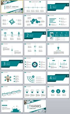 23+ blue business chart report PowerPoint templates