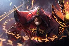 A picture of Warlock from Dota 2