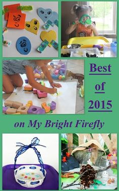 My Bright Firefly: Top 10 Kids Activities of 2015 Early Learning Activities, Creative Activities For Kids, Creative Arts And Crafts, Arts And Crafts Projects, Craft Activities For Kids, Creative Kids, Activity Ideas, Craft Ideas, Holiday Crafts For Kids