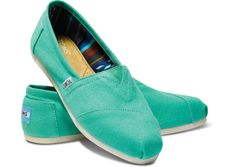 proceed with caution: these bright pool green canvas classics will catch peoples attention