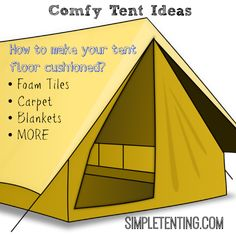 Do you want a cozy camping tent? Of course you do, see the best flooring ideas to keep you comfortable in your camping tent. Camping Hacks, Camping Diy, Camping Tools, Camping Supplies, Camping Stove, Beach Camping, Camping Essentials, Camping With Kids, Camping Equipment