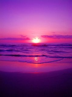 Red sunset on the ocean.