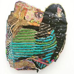 Work by one of my favorite artists Josh Blackwell #joshblackwell @friezeartfair #friezeny #stitching #plasticbag #painting #textiles