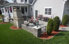 Side view of deluxe outdoor living space