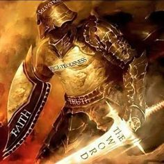 Put on the whole armor of God, prophetic art warrior painting with sword of Spirit. Christian Warrior, Christian Life, Christian Images, Warrior Quotes, Prayer Warrior, Fotos Do Face, Armor Of God Tattoo, Armour Tattoo, Ephesians 6