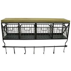 Metal & Wood Shelf with Baskets & 7 Hooks - Hobby Lobby ~ this is perfect for my coffee corner! Coffee Nook, Coffee Bar Home, Coffee Corner, Coffee Bars, Coffee Bar Ideas, Coffee Tin, Cozy Corner, Coffee Break, Basket Shelves