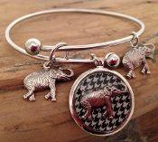 Expandable Houndstooth Elephant Bracelet
