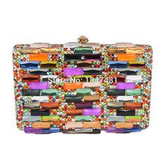 Designer Multicolor Handtasche Luxus Kristall Frauen Bling taschen Hochzeit Handtasche Damen braut Clutch abendtasche SC279 //Price: $US $78.00 & FREE Shipping //     #abendkleider