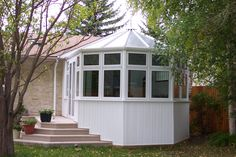 Victorian style sunroom conservatory. Classic and cozy