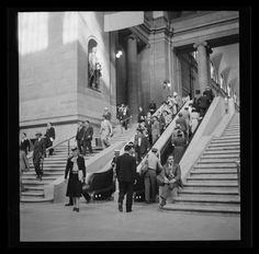 Interior of Penn Station, 1939.