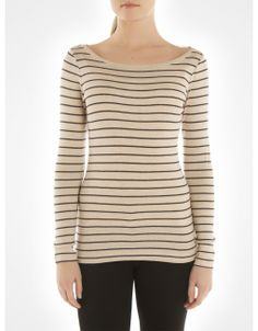 Long striped boat neck sweater / Chandail long rayé avec encolure bateau www.jacob.ca  @Boutique JACOB  #JACOBGIFTS
