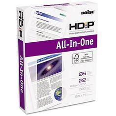 Boise Aspen HD:P All-In-1 Office Paper, 96 Brightness, 8-1/2 x 11, White, 500 Sheet Ream