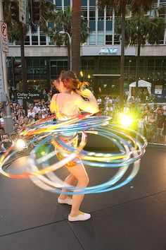 Hula Hooping!! Getting ready for summer festivals. :)