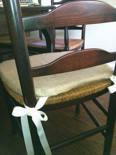 Burlap Chair Cushions | Burlap Chair Cushion...done With The Burlap Bird  Silhouette