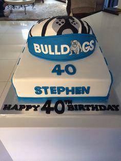 Bulldogs birthday cake