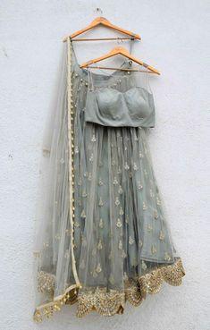 Baby Blue Lehenga Lace Set #indianfashion,